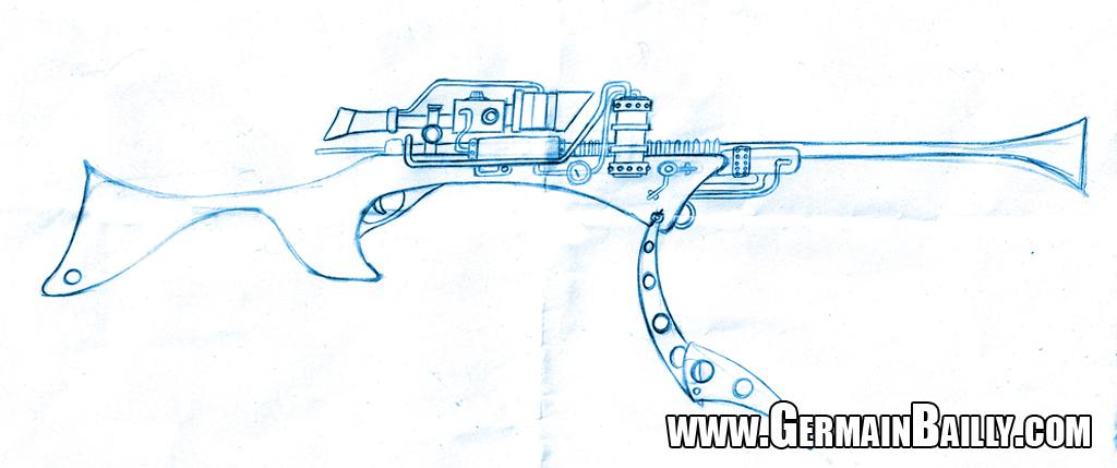 Tuto Fusil Steampunk - Croquis