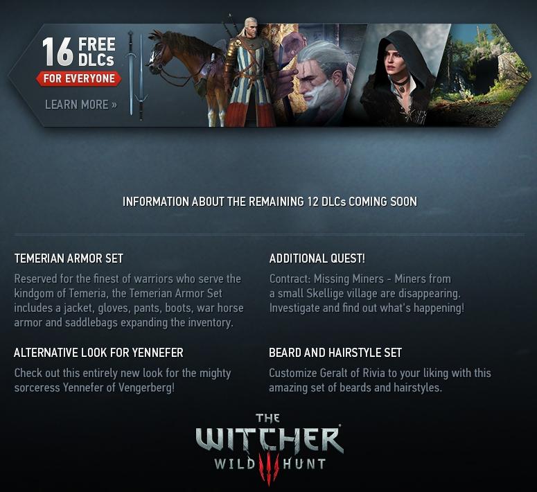 The Witcher 3 : 16 DLC gratuits pour tous - Simple Comme Geek