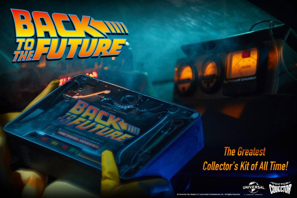 Boîte Souvenirs des voyage dans le temps de Retour vers le futur