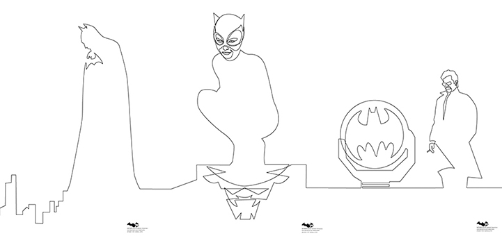 one line Batman sur Gotham City