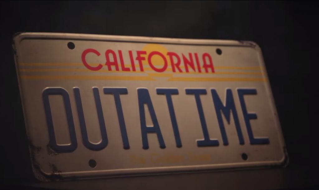 Plaque CALIFORNIA OUTATIME