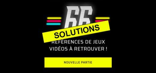 Solutions des 66 jeux vidéos PopCorn 66